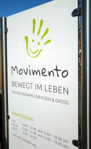 Schild - Physiotherapie Movimento in Hamm Uentrop